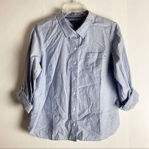 New Tommy Hilfiger Blue Button Down Shirt Large